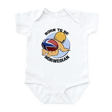"""Born to be Norwegian"" Infant Bodysuit"