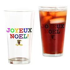 CHRISTMAS - JOYEUX NOEL - REINDEER! Drinking Glass