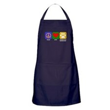 Peace Love Australian Cattle Dog Apron (dark)