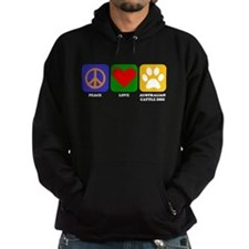 Peace Love Australian Cattle Dog Hoodie