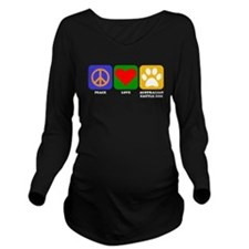 Peace Love Australian Cattle Dog Long Sleeve Mater