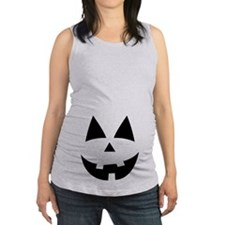 Pumpkin Face Maternity Tank Top