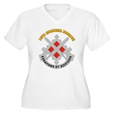 DUI-18th Engineer Brigade with text T-Shirt