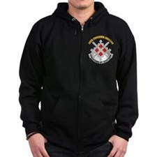 DUI-18th Engineer Brigade with text Zip Hoodie