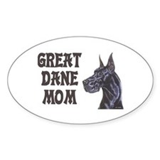 C Blk GD Mom Oval Decal