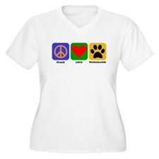 Peace Love Weimaraner Plus Size T-Shirt