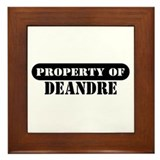 Property of Deandre Framed Tile