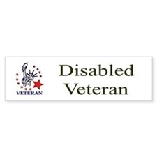 Disabled Veteran Bumper Bumper Sticker