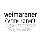 Weimaraner Phonetics Postcards (8)