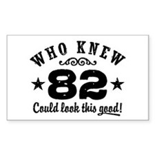 Funny 82nd Birthday Decal