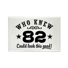 Funny 82nd Birthday Rectangle Magnet