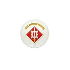 SSI-18th Engineer Brigade with text Mini Button (1