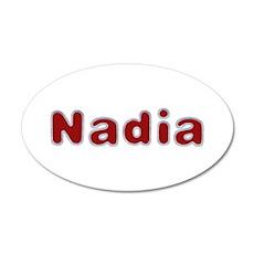 Nadia Santa Fur 35x21 Oval Wall Decal
