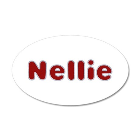 Nellie Santa Fur 20x12 Oval Wall Decal