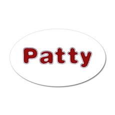Patty Santa Fur 20x12 Oval Wall Decal