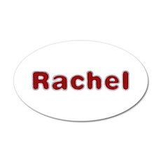 Rachel Santa Fur 20x12 Oval Wall Decal
