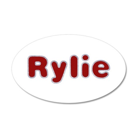 Rylie Santa Fur 35x21 Oval Wall Decal