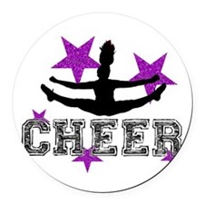 Cheerleader Round Car Magnet