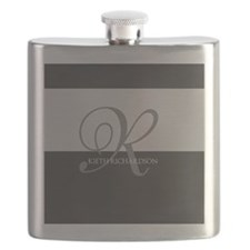 Elegant Custom Monogram Flask