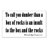 Box Of Rocks Rectangle Decal