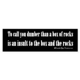 Box Of Rocks Bumper Bumper Sticker