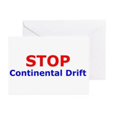 Stop Continental Drift Greeting Cards (Package of