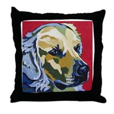 Golden Retriever - James Throw Pillow