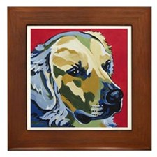 Golden Retriever - James Framed Tile
