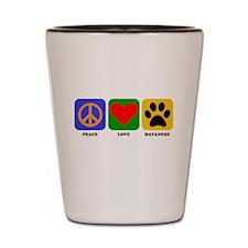 Peace Love Havanese Shot Glass