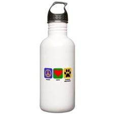 Peace Love German Shepherd Water Bottle