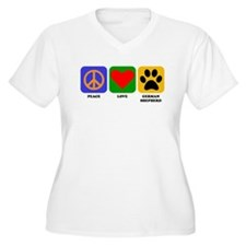 Peace Love German Shepherd Plus Size T-Shirt