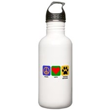 Peace Love French Bulldog Water Bottle