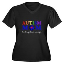 Autism Mom Superhero Plus Size T-Shirt