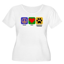 Peace Love Doberman Pinscher Plus Size T-Shirt