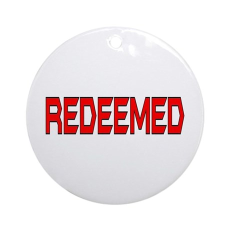 Redeemed Ornament (Round)