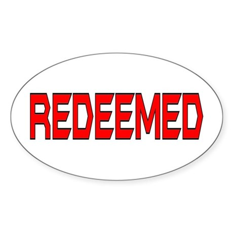 Redeemed Oval Sticker