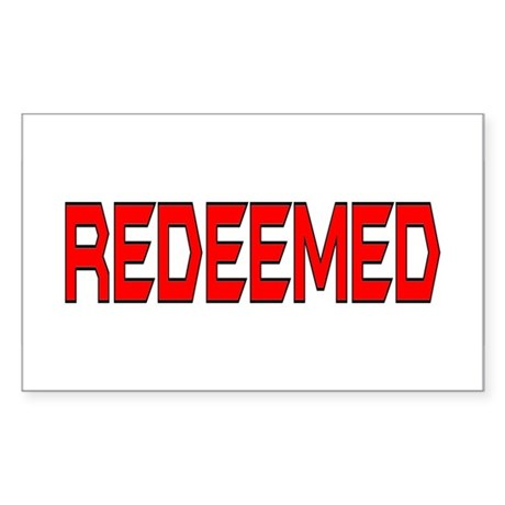 Redeemed Rectangle Sticker