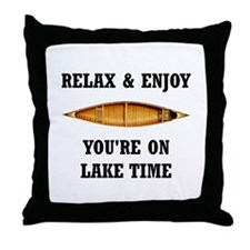 On Lake Time Throw Pillow