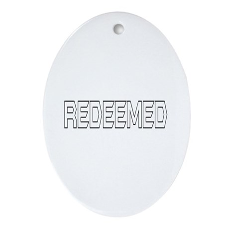 Redeemed Oval Ornament