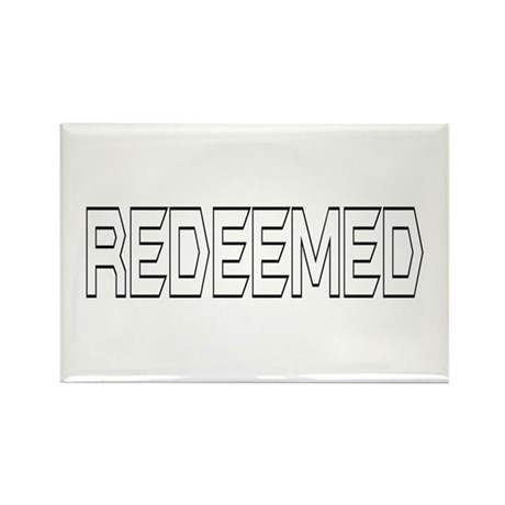 Redeemed Rectangle Magnet (100 pack)