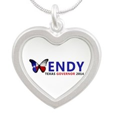Texas Governor Butterfly Wendy Davis 2014 Necklace
