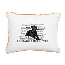 Black Lab Traits Rectangular Canvas Pillow