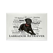 Black Lab Traits Magnets
