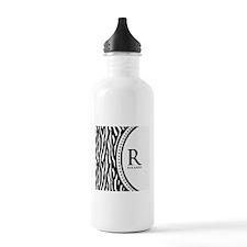Trendy Animal Print Monogram Water Bottle