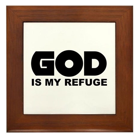 God's Refuge Framed Tile