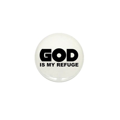 God's Refuge Mini Button (10 pack)
