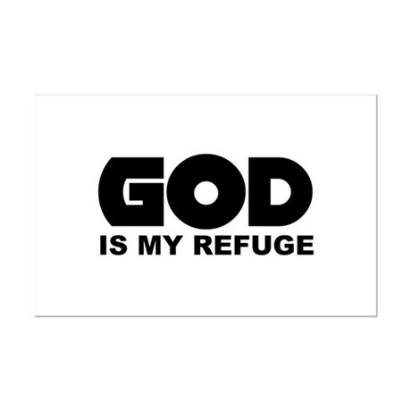 God's Refuge Mini Poster Print