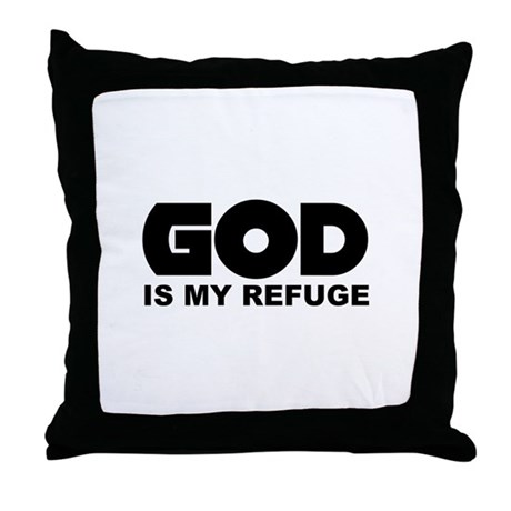 God's Refuge Throw Pillow