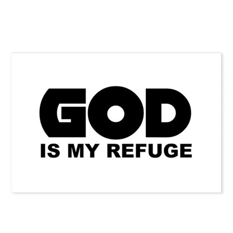 God's Refuge Postcards (Package of 8)
