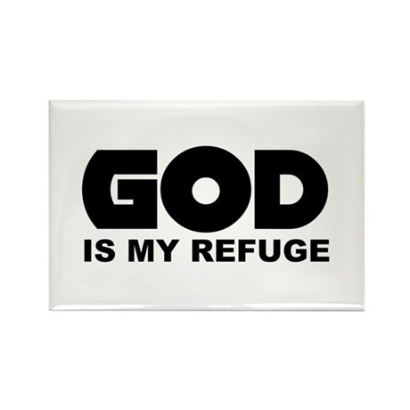 God's Refuge Rectangle Magnet